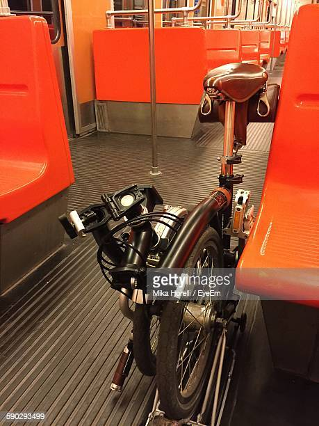 Folding Bicycle In Train