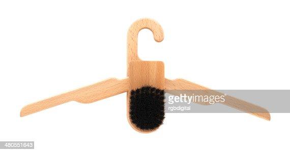 Folding brush hanger : Stock Photo