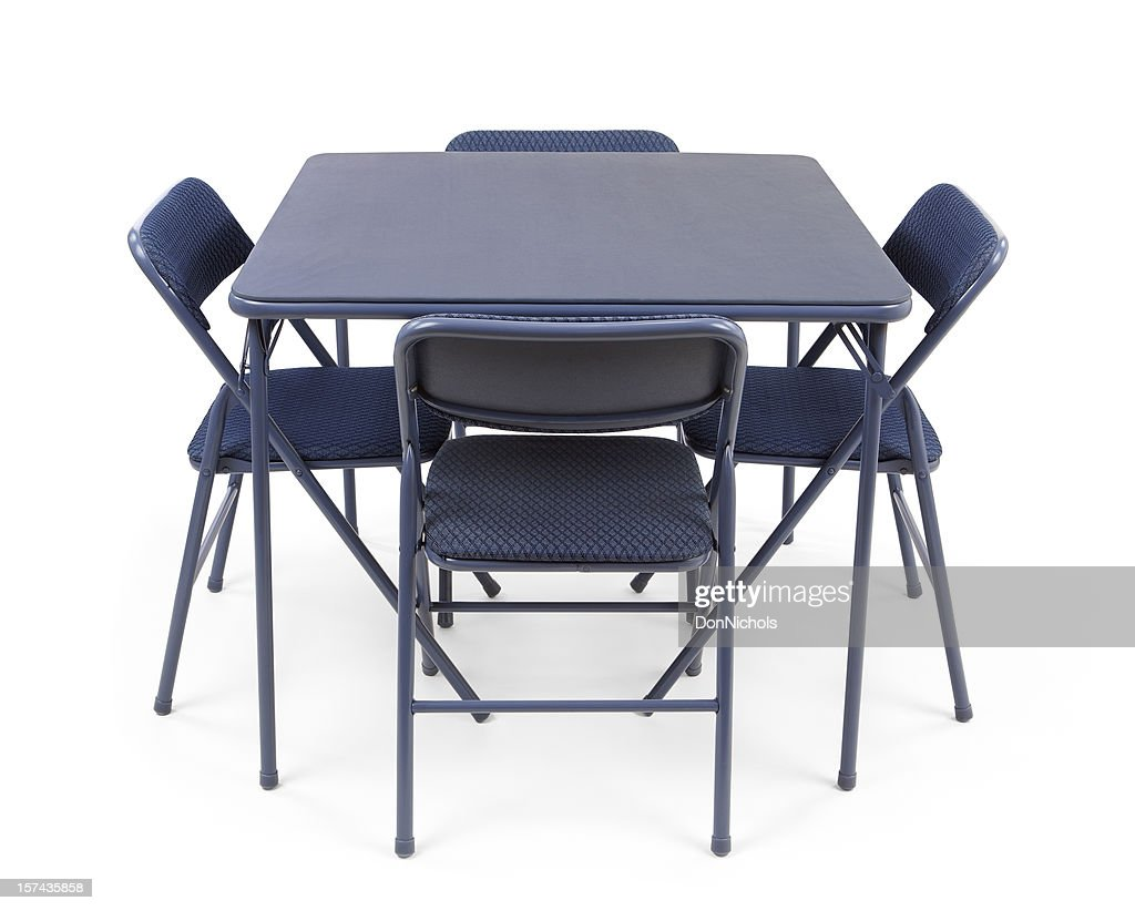 Folding Card Table And Chairs Stock Photo Getty Images