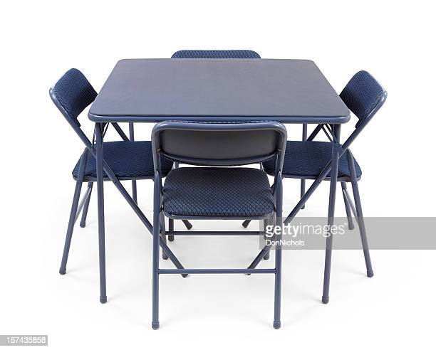 折りたたみ式カードのテーブルと椅子