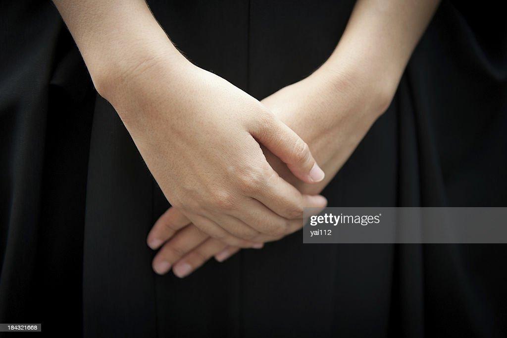folding hands