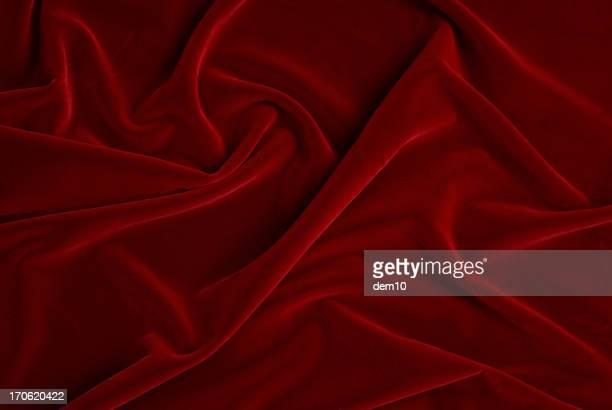 Folds in red velvet