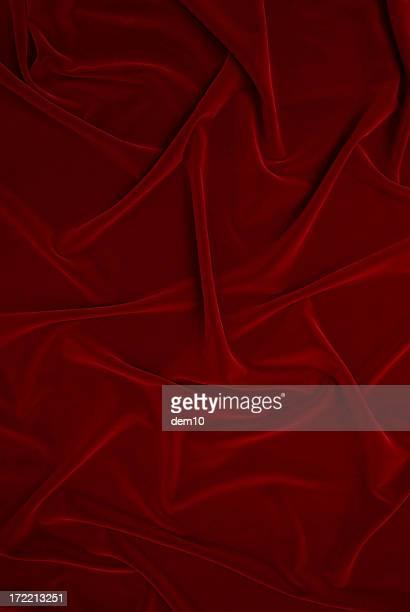 Folds in red velvet