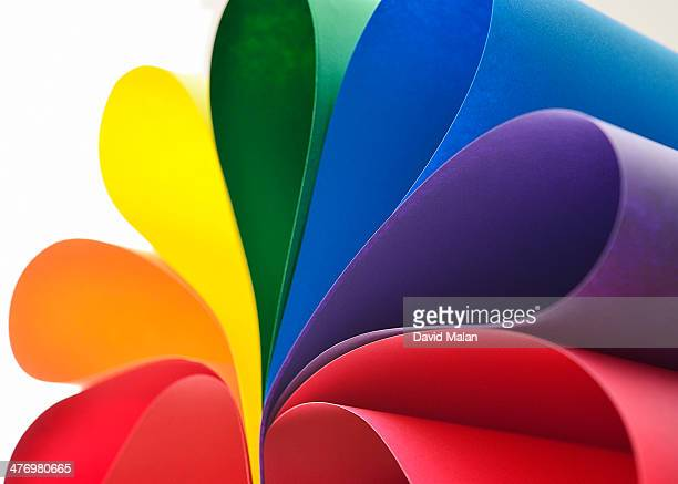Folds of coloured paper resembling petals