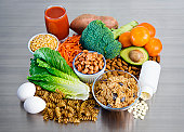 Foods rich in Folic Acid, also known as Folates and Vitamin B9.