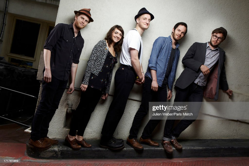 Folk band <a gi-track='captionPersonalityLinkClicked' href=/galleries/search?phrase=The+Lumineers&family=editorial&specificpeople=9160715 ng-click='$event.stopPropagation()'>The Lumineers</a> are photographed for Paris Match on May 14, 2013 in Paris, France.