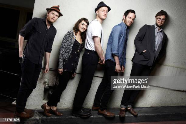 Folk band The Lumineers are photographed for Paris Match on May 14 2013 in Paris France