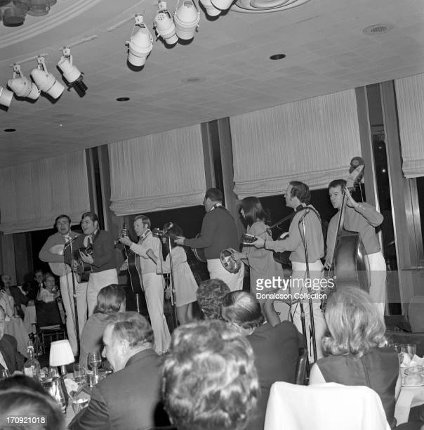 Folk group 'The New Christy Minstrels' perform onstage at the Rainbow Room on December 9 1968 in New York New York