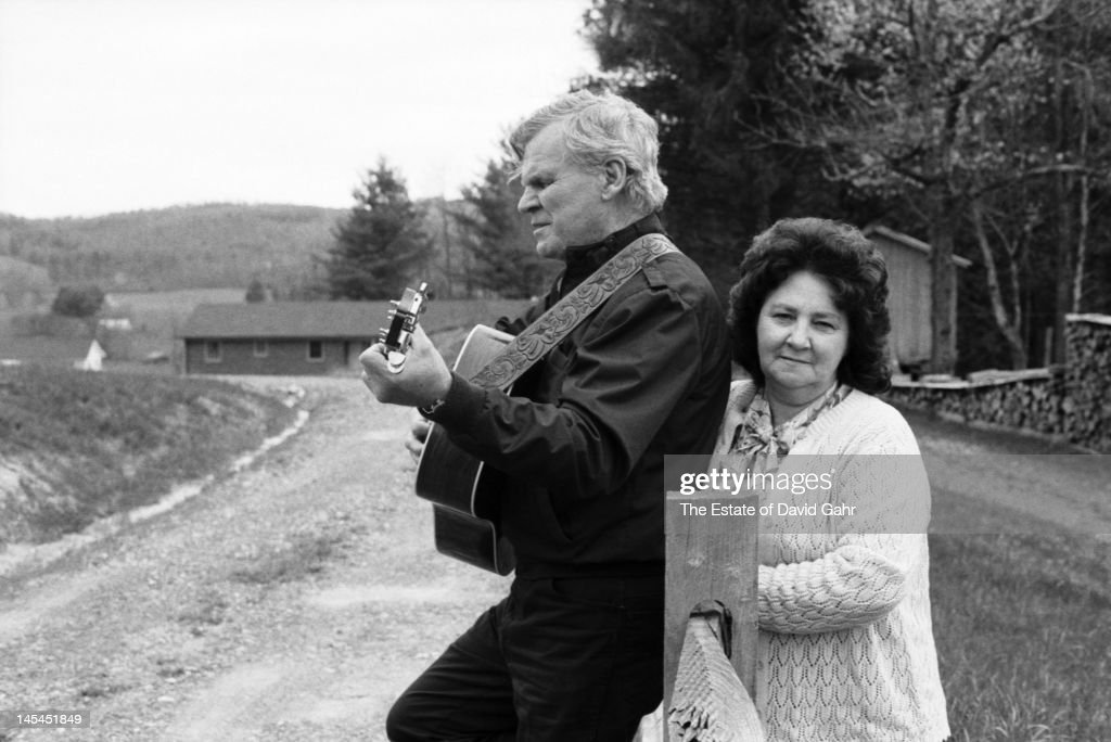 Folk musician, guitarist and singer Arthel 'Doc' Watson and Rosa Lee Watson, his wife of 60 years, pose for a portrait at their hand-built home and farm in July 1987 in Deep Gap, North Carolina.