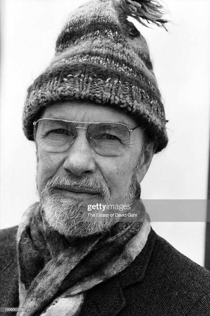 Folk musician, songwriter, activist, and founding member of the folk music group The Weavers, <a gi-track='captionPersonalityLinkClicked' href=/galleries/search?phrase=Pete+Seeger&family=editorial&specificpeople=213821 ng-click='$event.stopPropagation()'>Pete Seeger</a> poses for a portrait on February 10, 1981 in Croton-on-Hudson, New York.