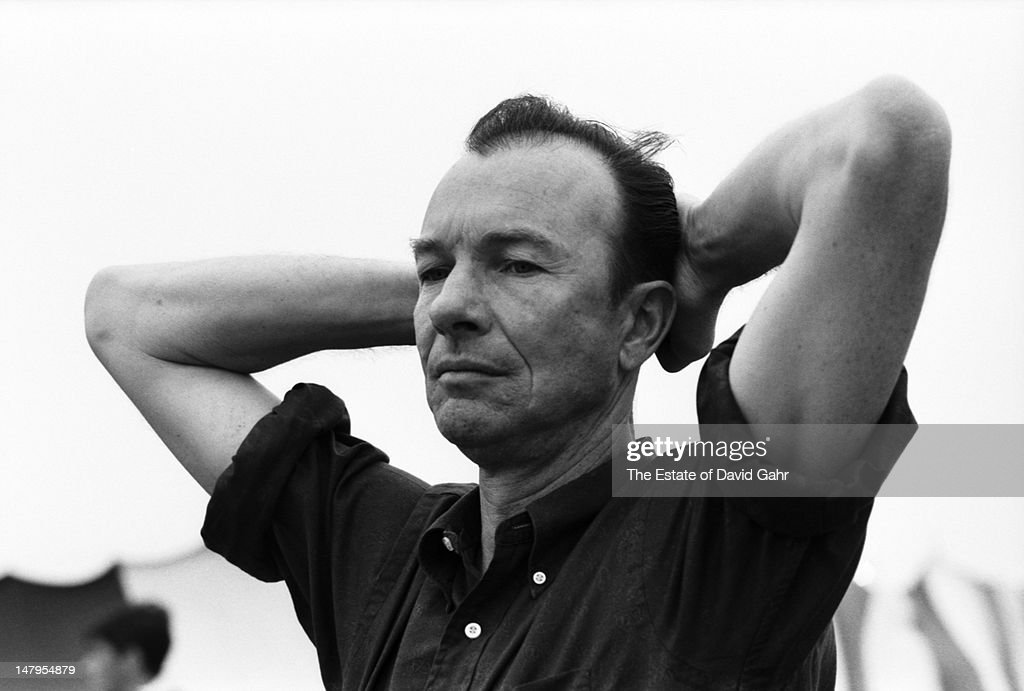 Folk musician, songwriter and activist <a gi-track='captionPersonalityLinkClicked' href=/galleries/search?phrase=Pete+Seeger&family=editorial&specificpeople=213821 ng-click='$event.stopPropagation()'>Pete Seeger</a> backstage at the Newport Folk Festival in July 1965 in Newport, Rhode Island.