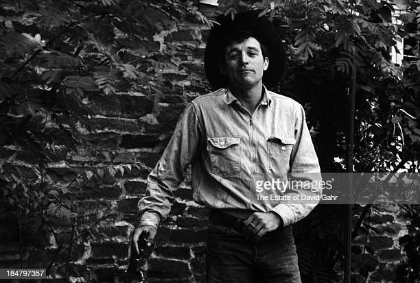 Folk singer Ramblin' Jack Elliott poses for a portrait in August 1964 in Woodstock New York