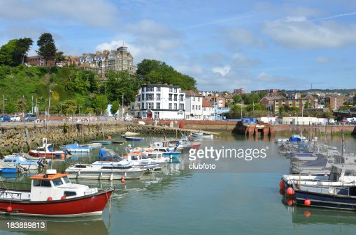 Folkestone harbour, Kent, UK