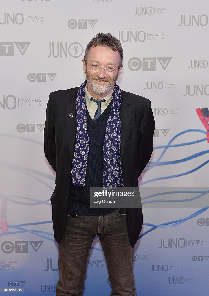 Folk-Singer David Francey arrives on the red carpet at the 2014 Juno Awards on March 30, 2014 in Winnipeg, Canada.
