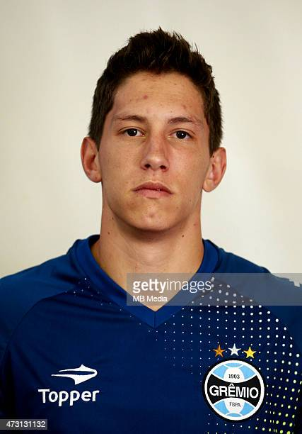 Follmann of Gremio FootBall Porto Alegrense poses during a portrait session on August 14 2014 in Porto AlegreBrazil