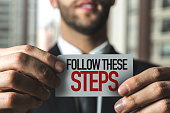 Follow These Steps card sign