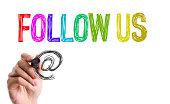 Follow Us sign