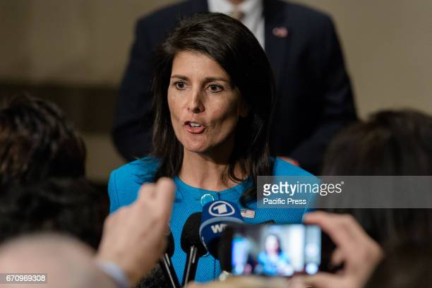 Following a United Nations Security Council open debate on the 'the situation in the Middle East including the Palestinian question US Ambassador to...