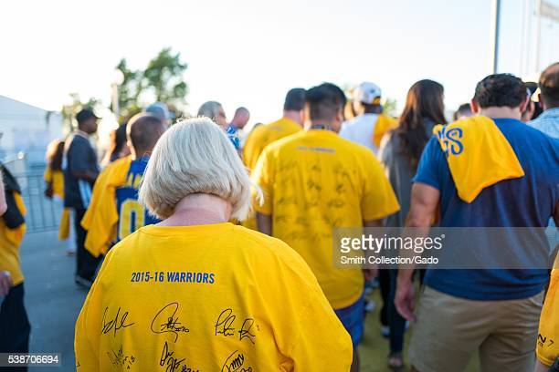 Following Game 2 of the National Basketball Association Finals between the Golden State Warriors and the Cleveland Cavaliers fans of the Warriors...