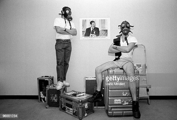 CNN journalists waiting for beginning of Gulf War, Jordan ...