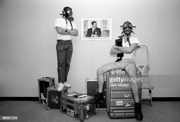 Following Iraq's occupation of Kuwait in August 1990 journalists from CNN waiting for an attack on Iraq by United Nations authorized military...