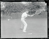Following negatives were especially posed for International News Service by Maurice McLaughlin national tennis champion and star of the American...
