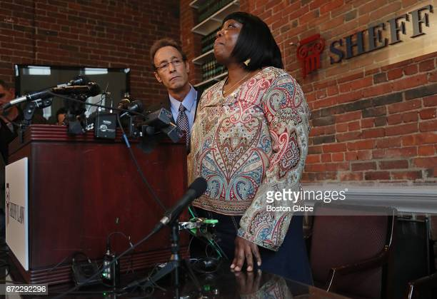 Following the death of Aaron Hernandez Ursula Ward mother of Odin Lloyd whose murder Hernandez was convicted of in 2015 addresses the media with her...