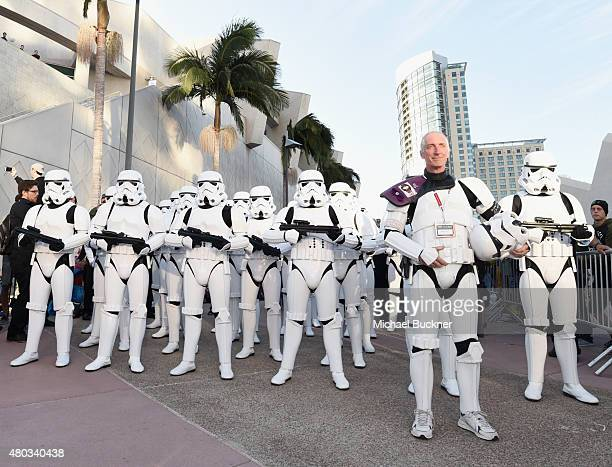 "Following the ""Star Wars"" Hall H presentation at ComicCon International 2015 at the San Diego Convention Center in San Diego Calif 501st Legion..."