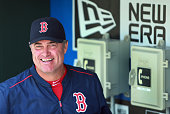 Following their last place finish in 2014 Red Sox manager John Farrell in the dugout before Boston's batting practice and the club are looking to...