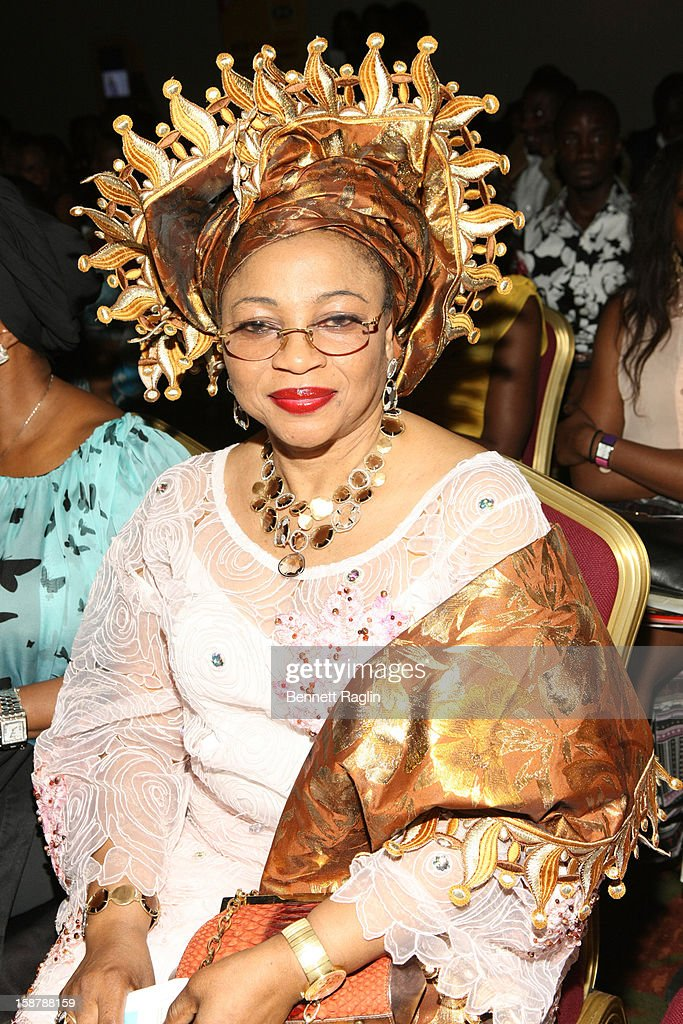 Folorunsho Alakija attends the Diamond Collection By Folake Majin Fashion Show at Iko Hotel and Suites on December 27, 2012 in Lagos, Nigeria.