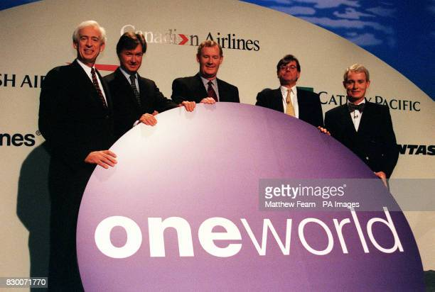 Fom left American Airlines Chairman and Chief Executive Don Carty British Airways Chief Executive Bob Ayling Canadian Airlines Chief Executive Kevin...