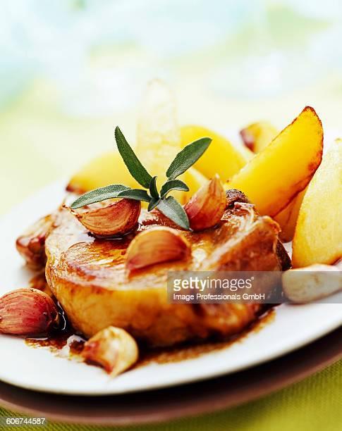 fondant chops with garlic