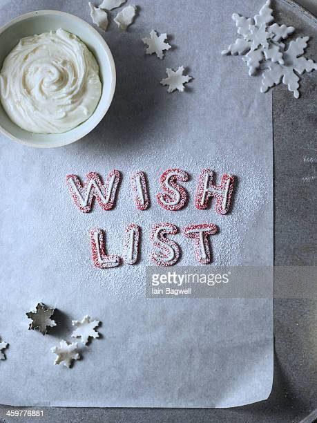 Fondant Snowflakes and baking wish list
