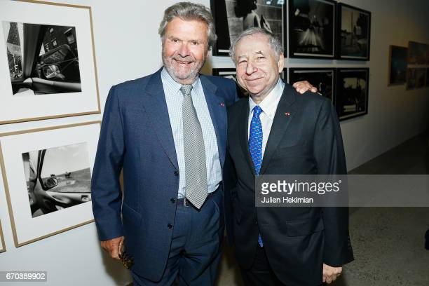 Fondation Cartier President Alain Dominique Perrin and Jean Todt attend 'Auto Photo' Exhibition Preview at Fondation Cartier on April 18 2017 in...