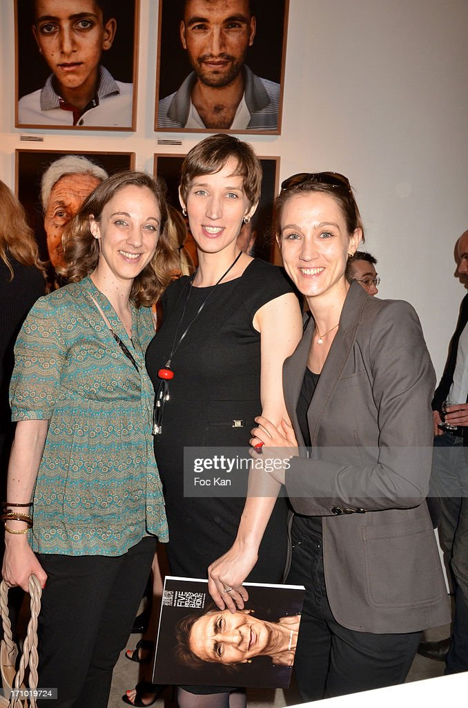 Fondation Hopitaux de France general deleguate Danuta Pieter, her sisters Eliza Pieter and Krystyna Pieter attend the 'Five Roads Back Home' Philipp Rathmer Photo Exhibition Preview at Galerie Joseph on June 20, 2013 in Paris, France.