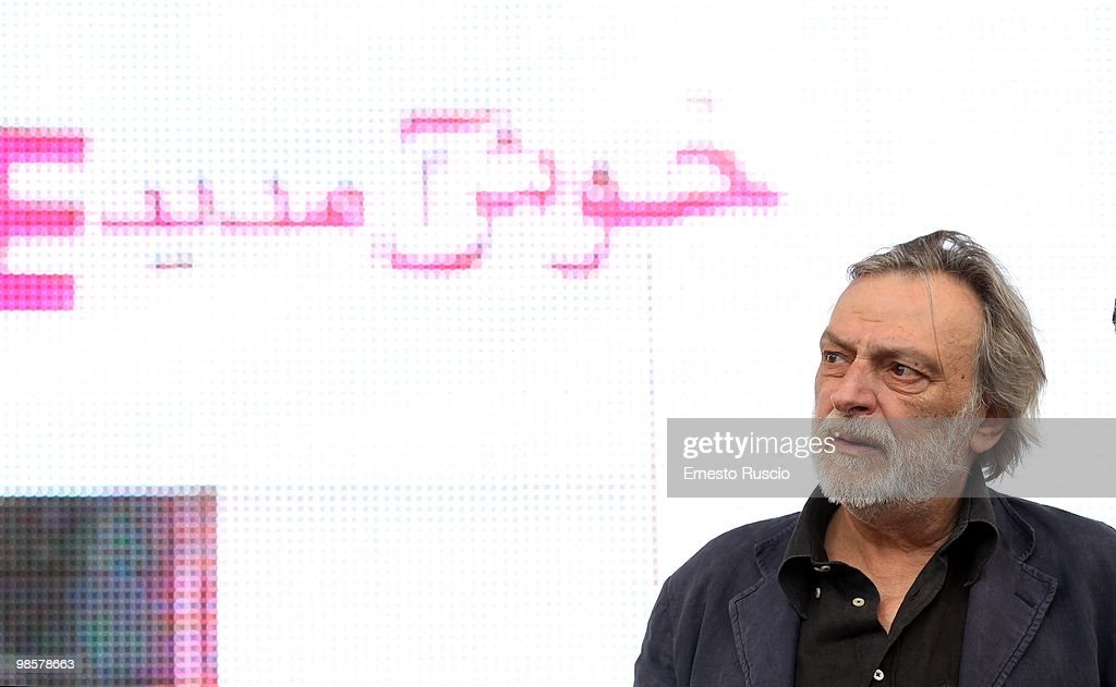 Fondator of Italian medical charity Emergency <a gi-track='captionPersonalityLinkClicked' href=/galleries/search?phrase=Gino+Strada&family=editorial&specificpeople=4203022 ng-click='$event.stopPropagation()'>Gino Strada</a> delivers a speech during a demonstration to support three Emergency employees held in Afghanistan over an alleged assassination plot at Piazza San Giovanni on April 17, 2010 in Rome, Italy.