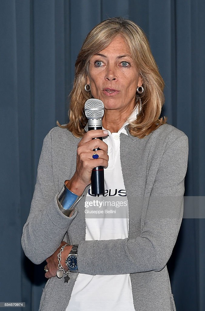 Fondazione Laureus Italia Onlus director Daria Braga attends a visit at Istituto Comprensivo Sauro Pascoli as part of the Laureus Project Visit in Naples on May 25, 2016 in Naples, Italy.