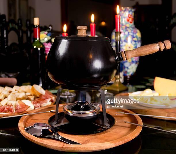 Fondue-Abendessen