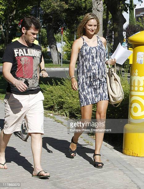 Fonsi Nieto and Alba Carrillo are seen sighting on July 1 2011 in Madrid Spain