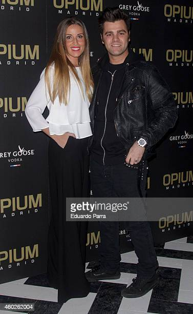 Fonsi Nieto and Marta Castro attend Fonsi Nieto birthday party photocall at Opium on December 10 2014 in Madrid Spain