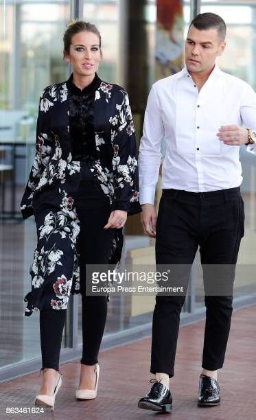 Fonsi Nieto and Marta Castro attend the 'Plaza Rio 2' presentation at Plaza Rio 2 mall on October 19 2017 in Madrid Spain