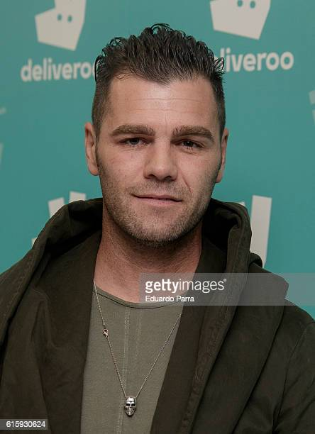 Fonsi Nieto attends the Deliveroo aniversary party photocall at Circulo de Bellas Artes on October 20 2016 in Madrid Spain
