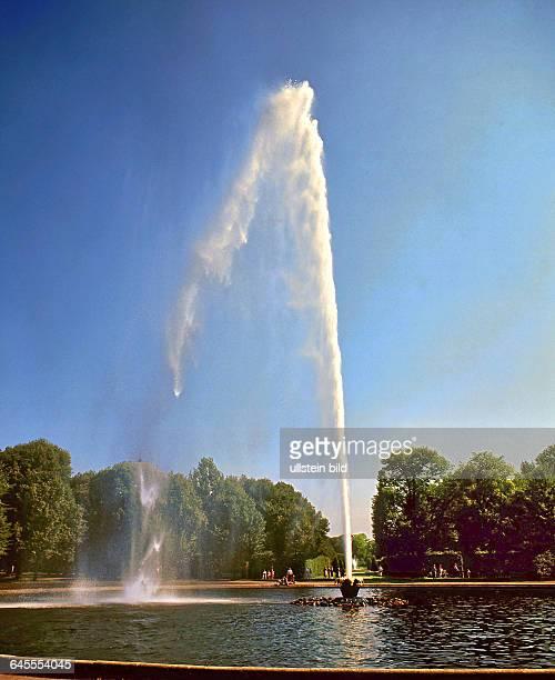 Fontaine in den Herrenhäuser Gärten in Hannover gesehen 2012