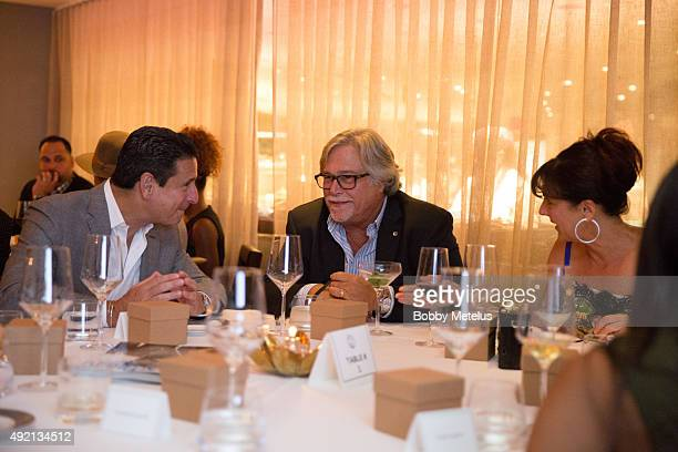 Fontainebleau COO Phil Goldfarb and Miami Heat's Owner Mickey Arison and Wife Madeleine Arison during dinner at Ocean Drive Magazine Celebrates its...