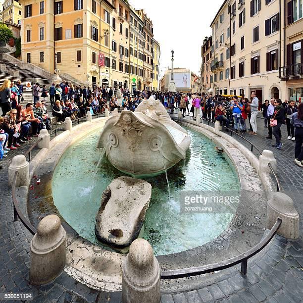 Fontana Della Barcaccia, Spanish Steps, Rome, Italy