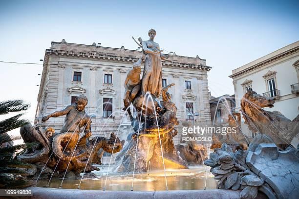 Fontana di Diana cacciatrice, Siracusa Ortigia-Sicilia, Italia