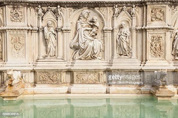 Fonte Gaia in Piazza del Campo, Siena, Italy