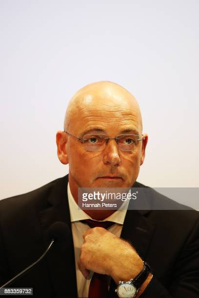 Fonterra's CEO Theo Spierings speaks to the media on December 1 2017 in Auckland New Zealand Fonterra has been ordered to pay Danone 105 million...