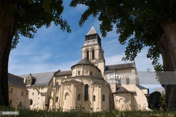 Fontevraud Abbey church 12th Fontevraud l'Abbaye Maine et Loire Loire Valley France