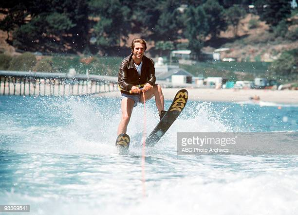 DAYS 'Fonzie Goes to Hollywood Part III' Season Five 9/20/77 Fonzie accepted a challenge to jump over a shark tank while water skiing